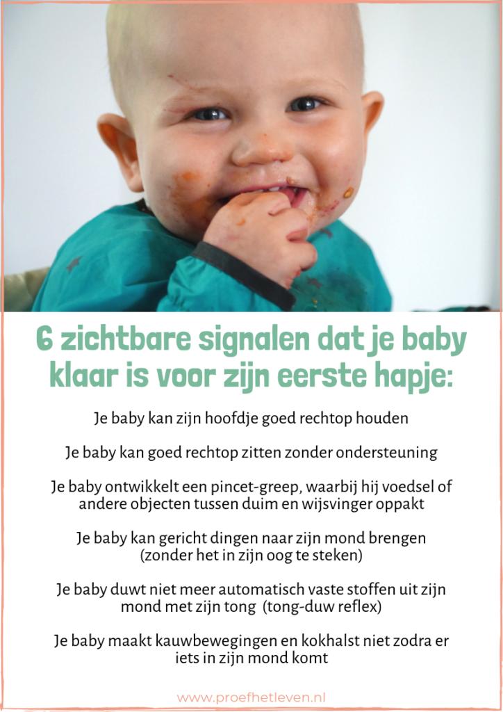 6 signalen dat je baby toe is aan zijn eerste hapje - Proef het leven
