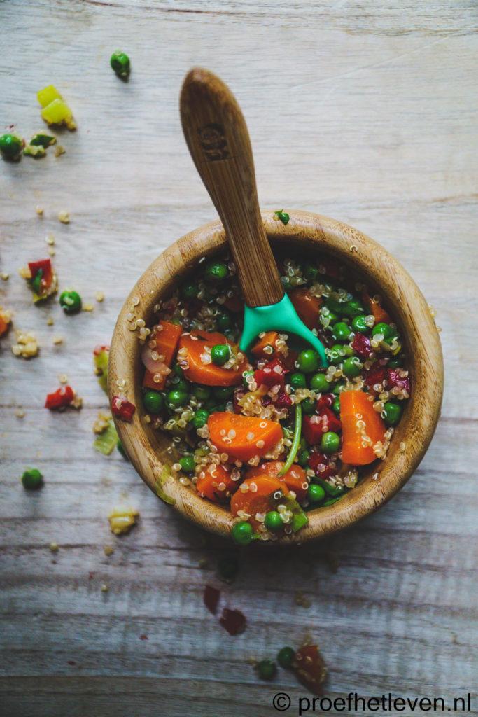 Babyvoeding recept quinoa met erwtjes - Proef het leven